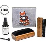 Vinyl Buddy Record Cleaner Kit 5 Piece Ultimate Cleaning System - Velvet Brush - Nylon Fiber Brush - Stylus Brush - Cleaning Liquid - Storage Pouch