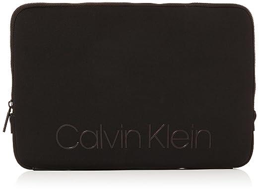 63a4c391c8 Calvin Klein Jeans Neo Laptop Sleeve, Sacs pour ordinateur portable homme,  Noir (Black