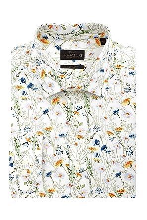 Regular fit hemd mit blumenprint