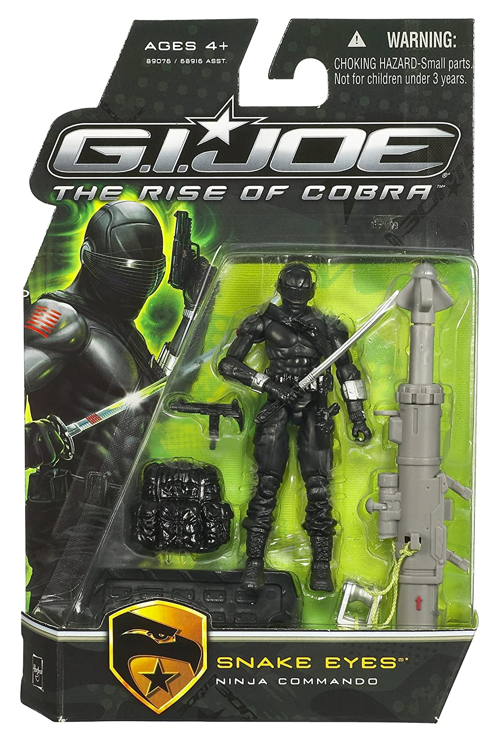 G.I. Joe The Rise of Cobra 3 3/4 Action Figure Snake Eyes ...