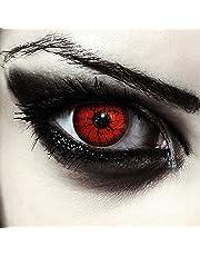 """Rosse mostro lenti a contatto colorate rosso, morbide, non corrette modello: """"Red Monster"""""""