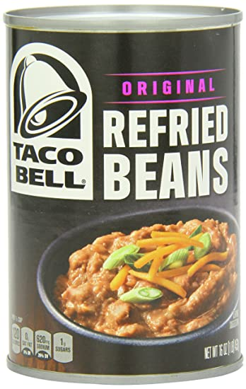 Taco Bell Refried Beans Can, Original, 16 Ounce