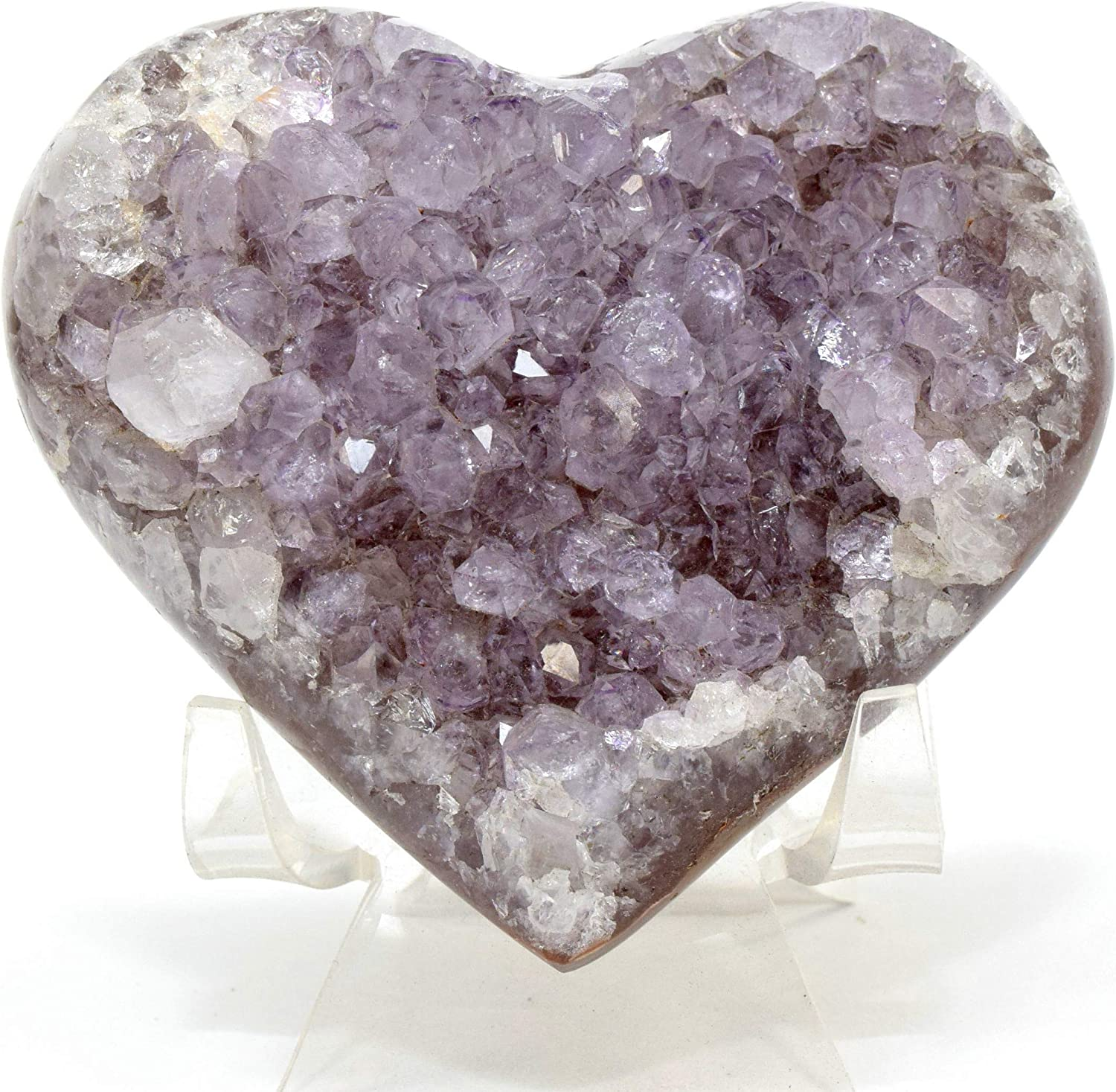 CRYSTAL STYLE RING DISPLAY HEART WITH GEM CUT FOR BEAUTY