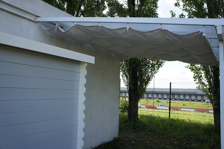 Chalet-Jardin 12-806016 - Couvterrasse corredera de Lona terraza para Sombra de Color Crudo de algodón 3 x 5 m: Amazon.es: Jardín