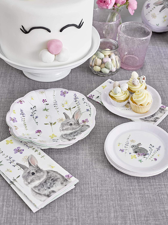 Multi-Colour Plastica Talking Tables TSBUNNY-SINGNAPV2 Truly Bunny Single Napkin Pk20