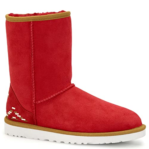 1ca6766ae62 Amazon.com | UGG Women's Classic Short Rustic Weave Boot, Scarlett ...