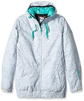 Roxy Snowboardjacke Valley Hoodie Jacket - Chaqueta de esquí para mujer, color gris, talla XL: Amazon.es: Deportes y aire libre
