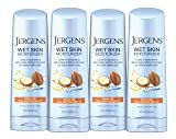 Jergens Wet Skin Body Moisturizer with Restoring Argan Oil, 10 Ounces (Pack of 4) (Packaging May Vary)