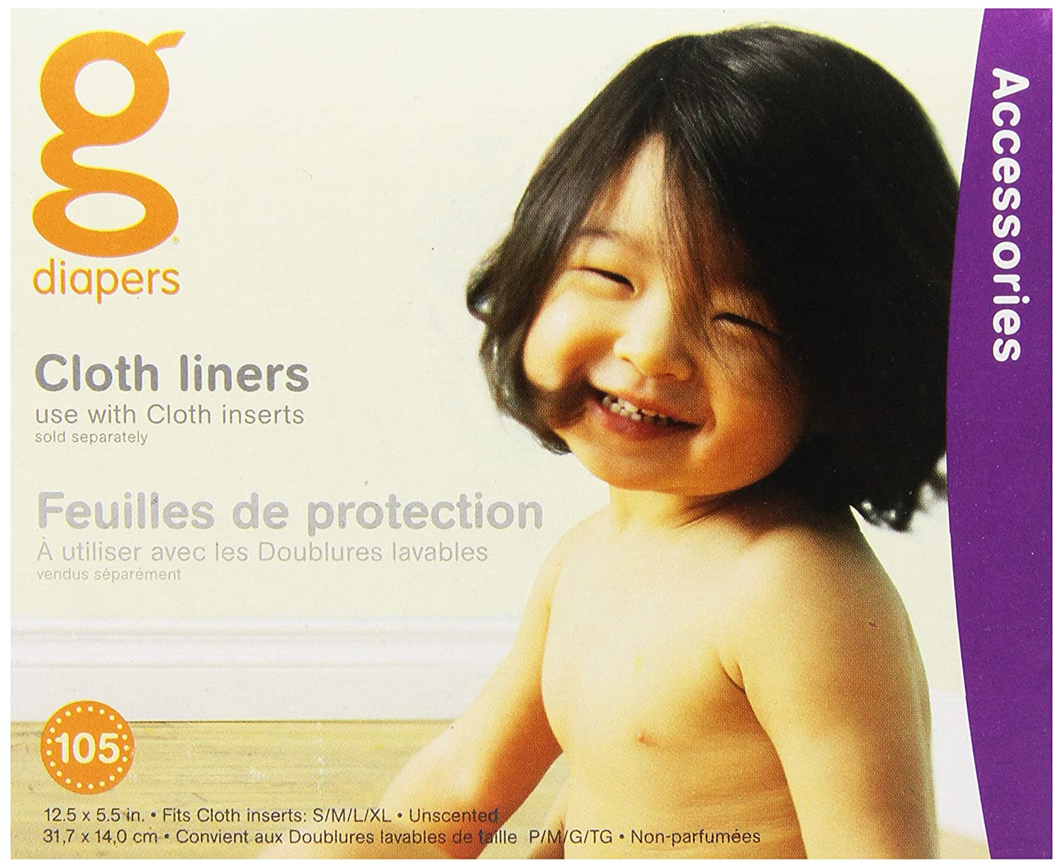 gDiapers Cloth Diaper Liners, 105 Count 70002
