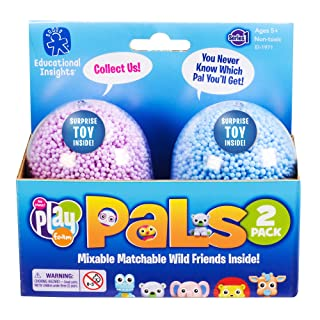 Educational Insights Playfoam Pals Wild Friends 2-Pack | Non-Toxic, Never Dries Out | Sensory, Shaping Fun, Arts & Crafts For Kids | Surprise Collectible Toy | Ages 5+