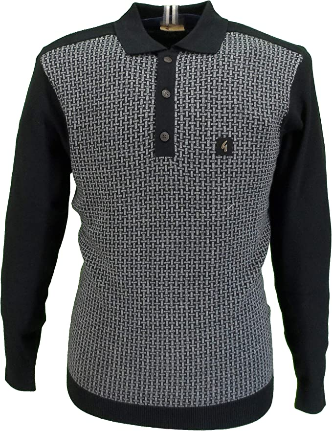1950s Men's Clothing Gabicci Vintage Mens Retro Mod Knitted Polo Shirt £69.99 AT vintagedancer.com