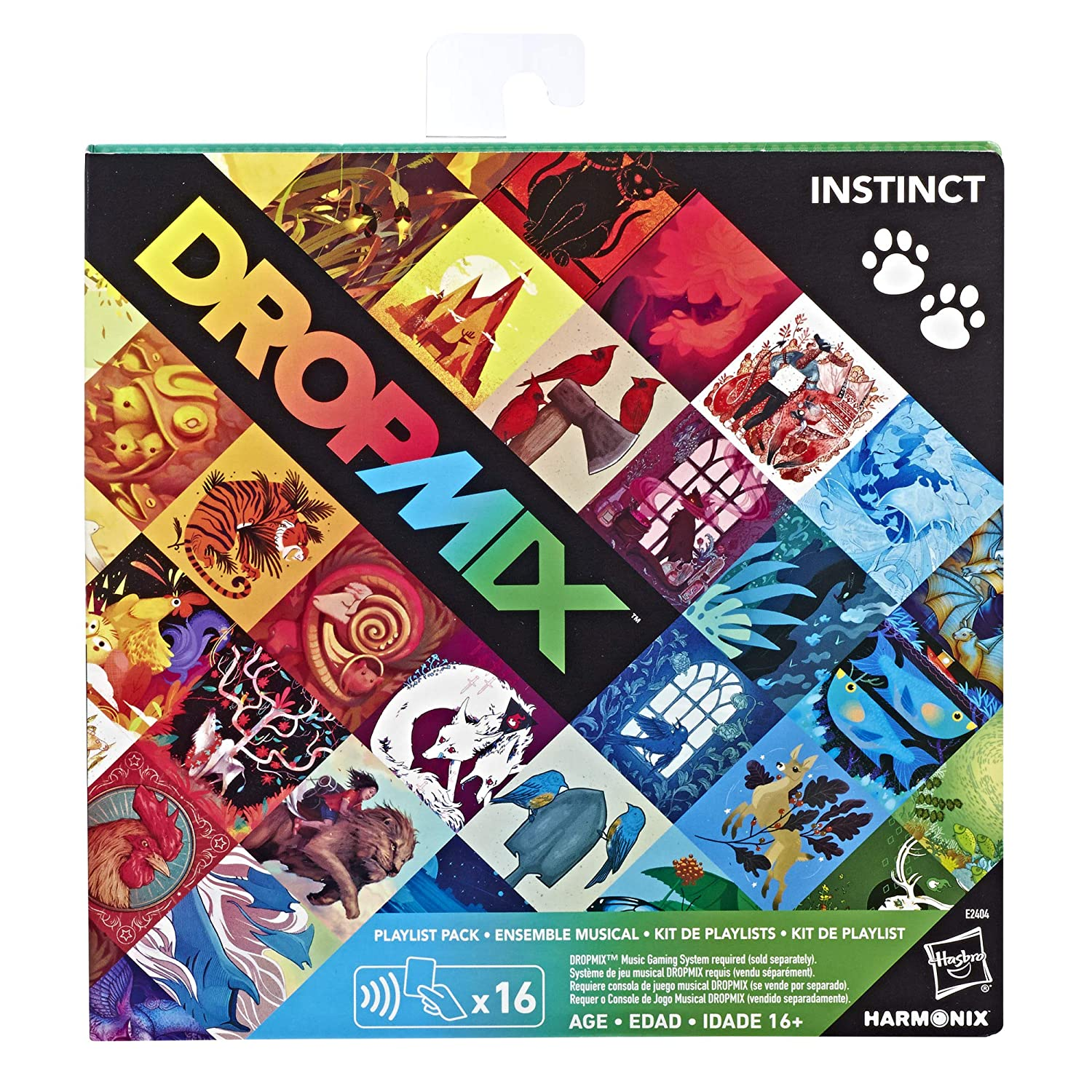 Hasbro Dropmix Playlist Pack (Instinct) Expansion for Music Mixing Board & Card Game