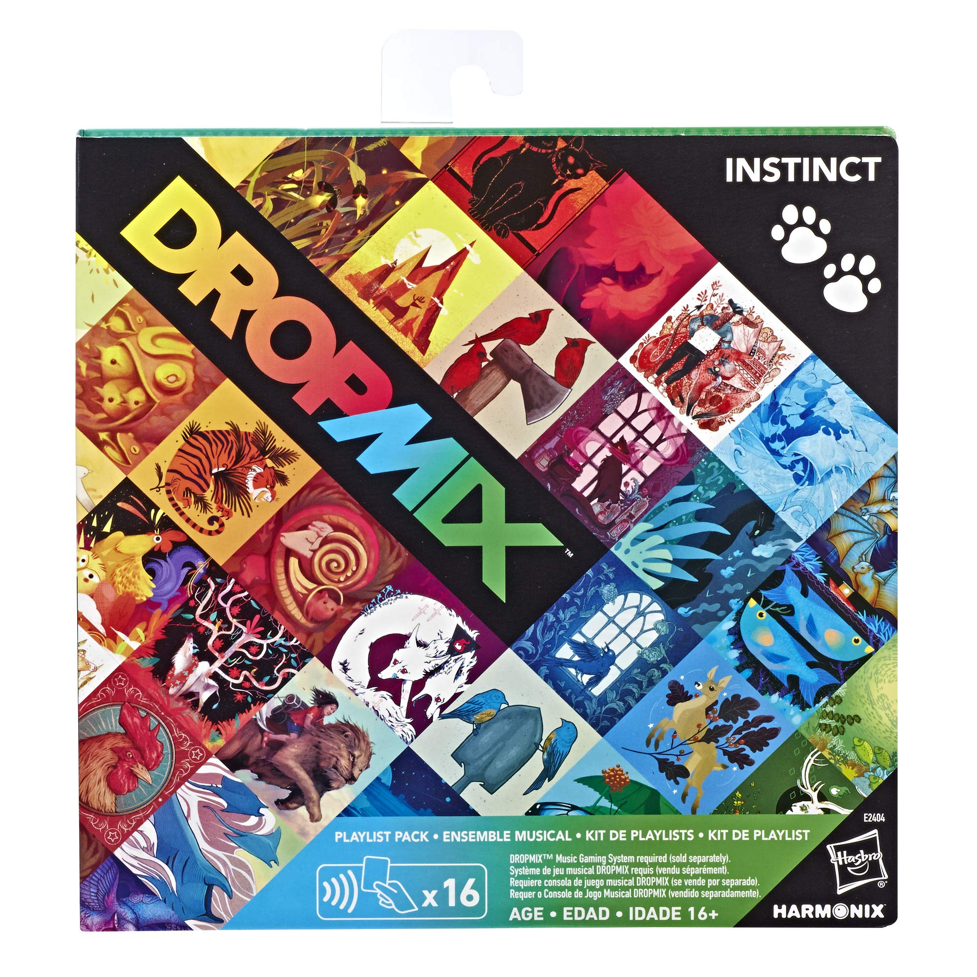 Hasbro DMX Dropmix 8 Playlist Pack (Instinct) Expansion for Music Mixing Board and Card Game