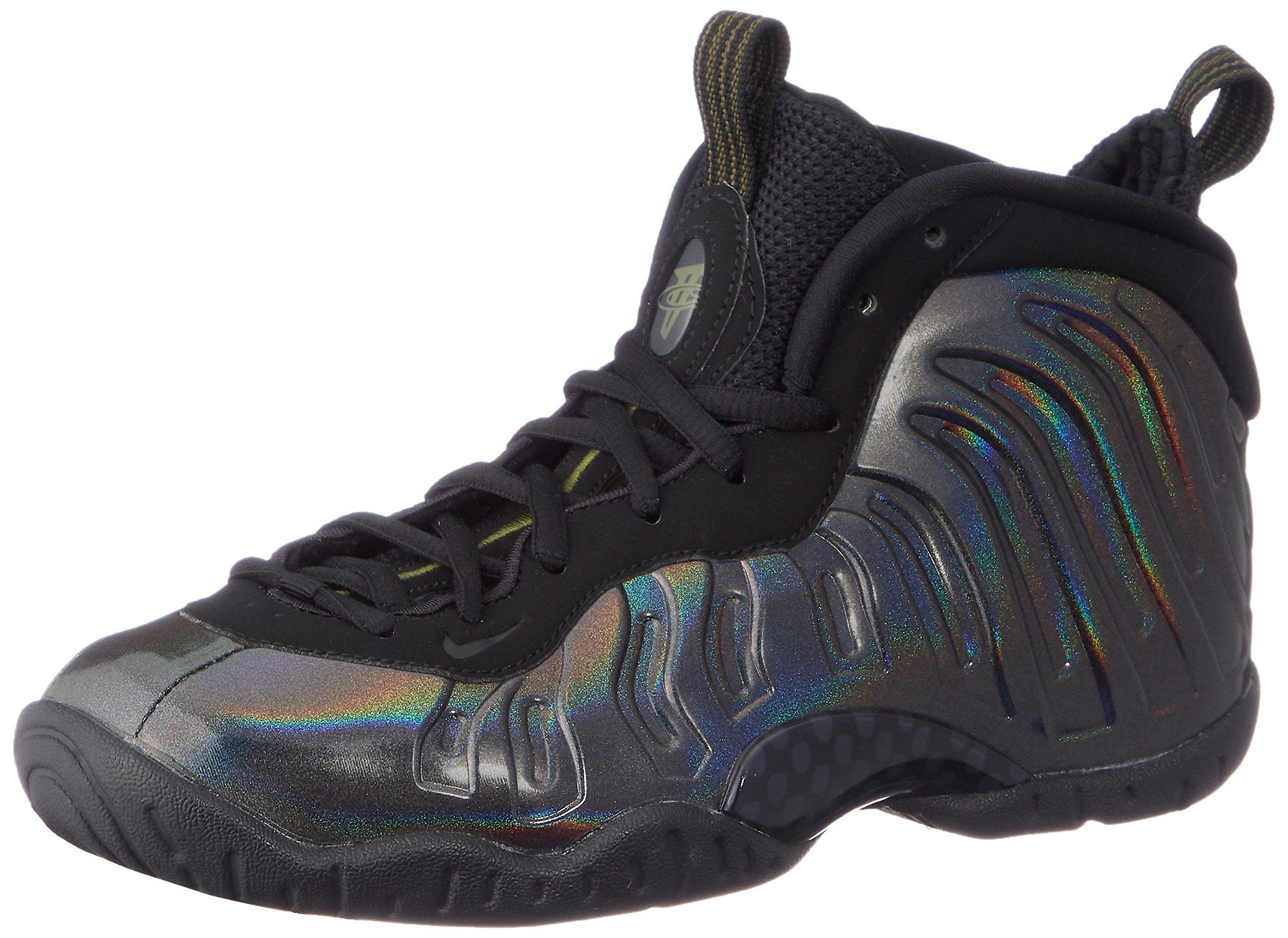 Nike Little Posite One (GS) 644791-301 Legion Green/Black Kids Shoes (6Y)