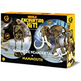 Geoworld - Cl662k - Jeu Scientifique - Dino Excavation Kit Pack Duo - Homme Neandertal/mammouth
