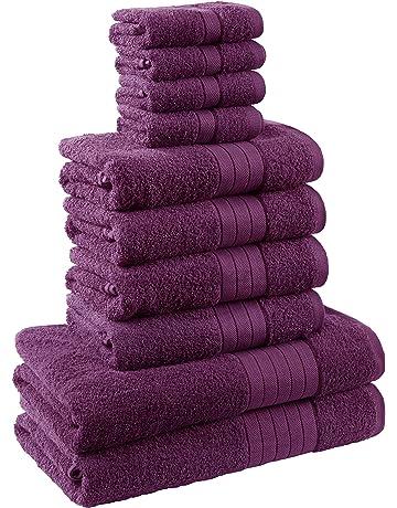 Dreamscene – Lujo Suave 10 Pieza Bale Toalla de baño Set de Regalo 100% algodón