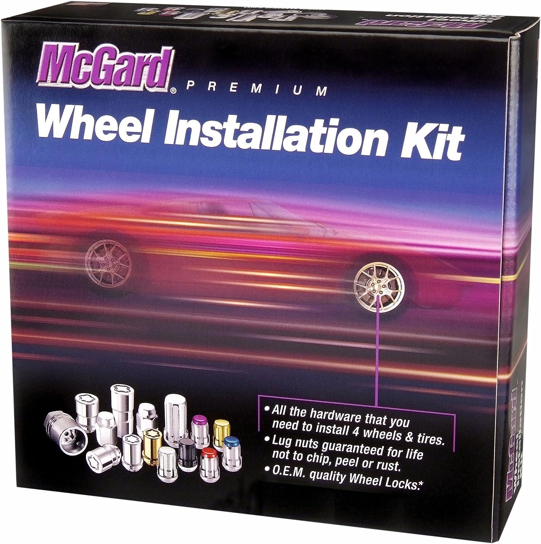 5 Locks 1 Storage Pouch Wheel Installation Kit 1 Key McGard 84562 Chrome 18 Lug Nuts