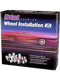McGard 84563BK Chrome/Black, 1/2-Inch, 20 Thread Size Bulge Cone Seat Style Wheel Installation Kit for Jeep Wrangler, 23...