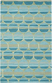 product image for Capel Rugs Kevin O'Brien Bucine Rectangle Hand Tufted Area Rug, 5 x 8, Blue