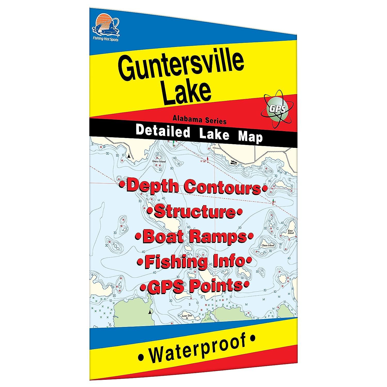 Amazon Guntersville Lake Fishing Map Sports Outdoors
