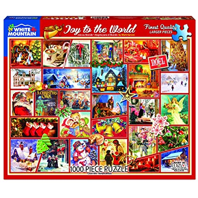 White Mountain Puzzles Joy of The World - 1000 Piece Jigsaw Puzzle: Toys & Games