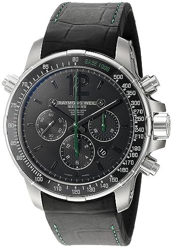 Reloj Automático Raymond Weil Nabucco, Negro, Titanio, Cerámica, Cronógrafo: Amazon.es: Relojes