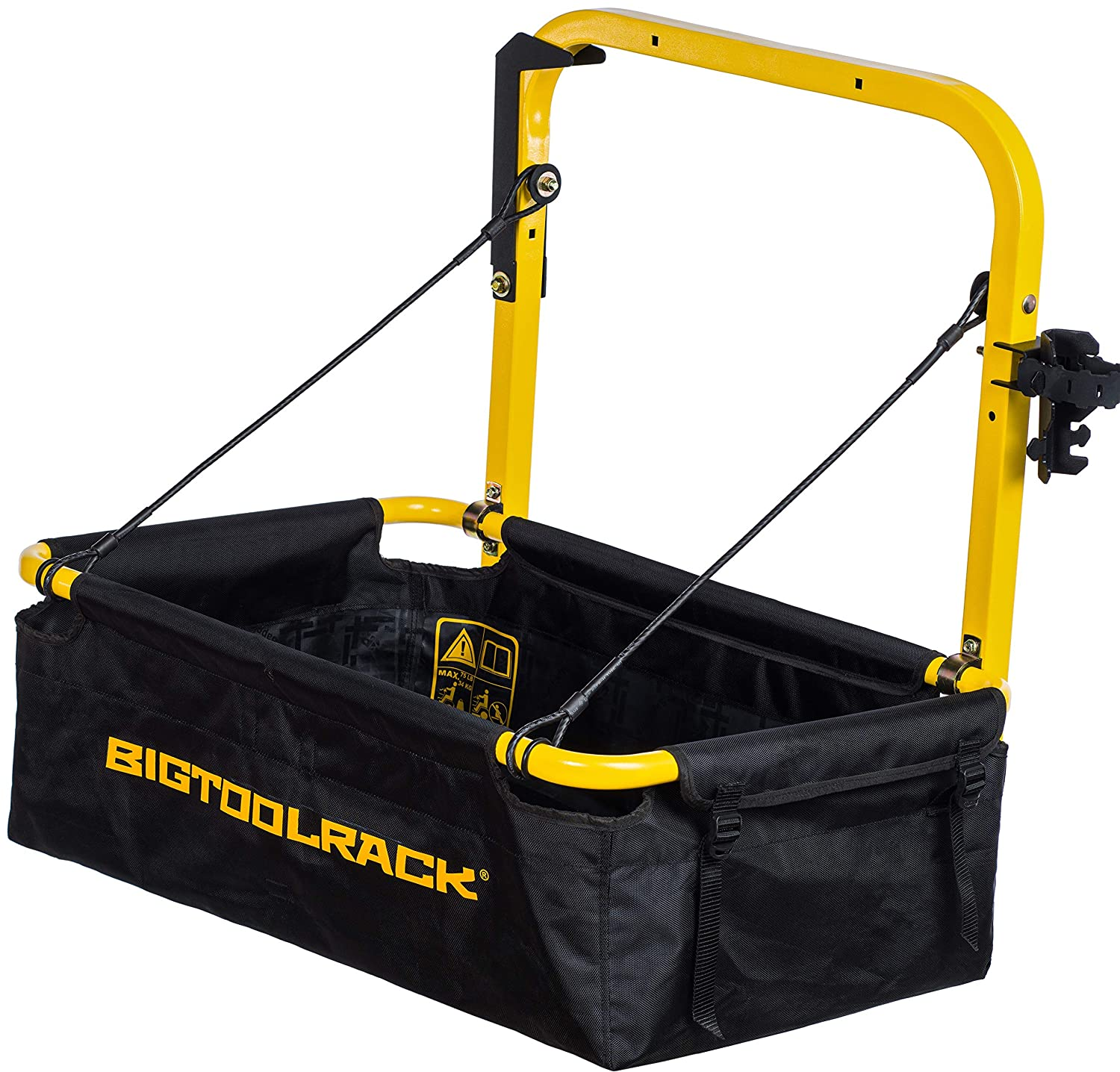 Bigtoolrack YardRack for Riding Mowers and Lawn Tractors, Dropdown Trailer to Haul More Gear