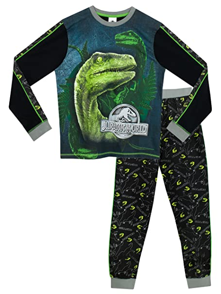 Jurassic World Pijama para Niños - Jurassic World - Brillan En La Oscuridad - 8 -