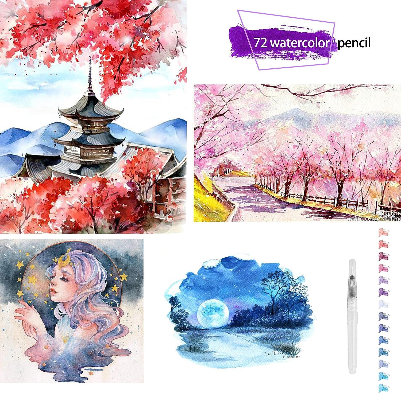 180 Matite Acquerellabili Per Disegno Artistico Matite Colorate Per Schizzi Ombreggiature E Colorazioni 180 Colori Penne Matite Scrittura E Correzione Matite Colorate