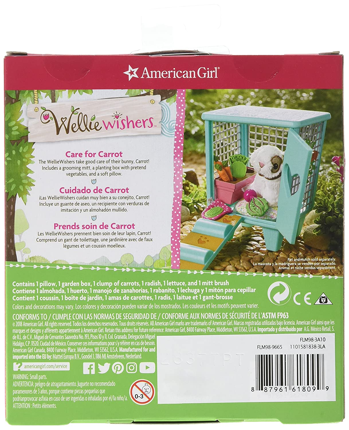 Amazon.com: American Girl Welliewishers Carrots Hutch Accessories Doll Accessories: Toys & Games