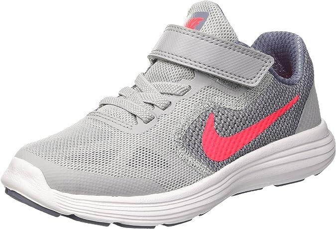 Nike Revolution 3 Gpv, Zapatillas de Running Unisex niños, Gris (Wolf Grey/Solar Red/dk Sky Blue/White), 33 EU: Amazon.es: Zapatos y complementos