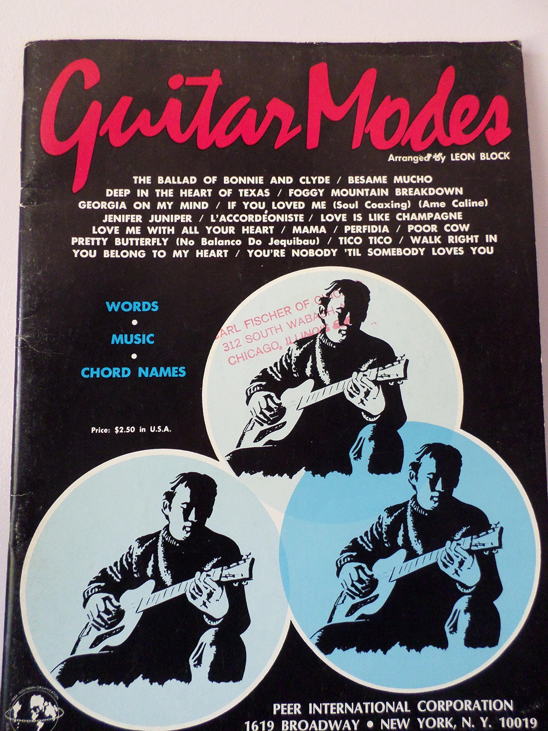 Guitar Modes Words Music Chord Names Leon Block Arranger