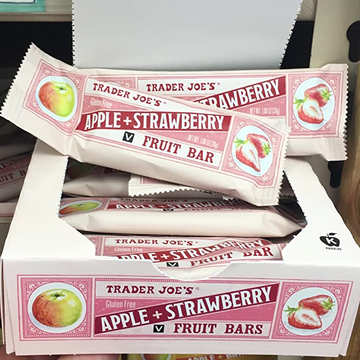 Trader Joe's Apple + Strawberry Fruit Bar, 12 Pack