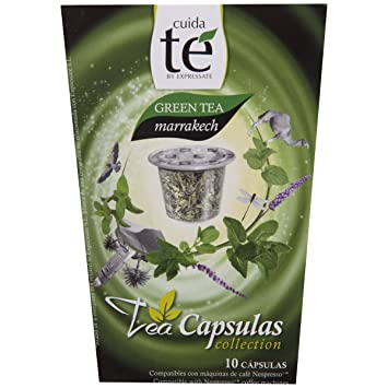 Cuida Te Green Tea Makkakech, Green Tea with Mint, Nespresso compatible, 10 Capsules