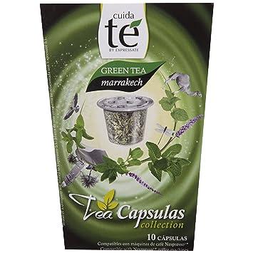 Cuida Te Green Tea Makkakech, Green Tea with Mint, Nespresso compatible, 10 Capsules
