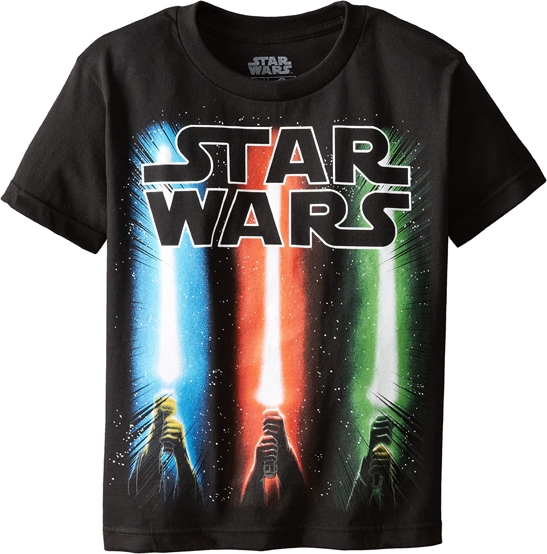 Star Wars Boys' Saber Rise T-Shirt: Clothing