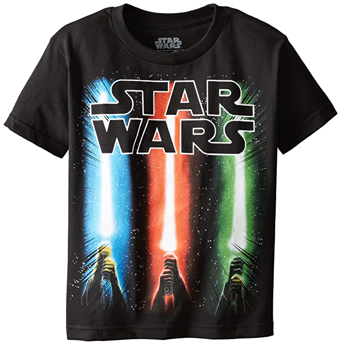 Amazon Com Star Wars Boys Saber Rise T Shirt Clothing