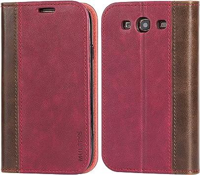 Mulbess Funda Samsung Galaxy S3 [Libro Caso Cubierta] Billetera Cuero Carcasa para Samsung Galaxy S3 / S3 Neo Case, Vino Rojo: Amazon.es: Electrónica