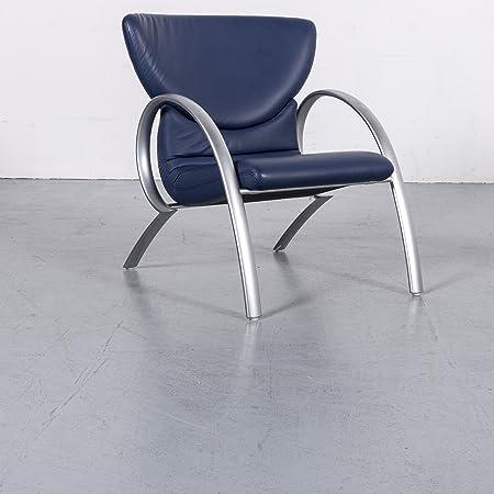 Amazonde Rolf Benz Designer Leder Sessel Blau Echtleder Stuhl 6147