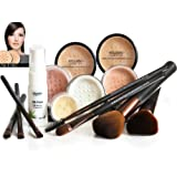 LIGHT SKIN Bare Face Affection Minerals 13 piece Set Sheer Finish Mineral Makeup Foundation Natural Flawless Coverage