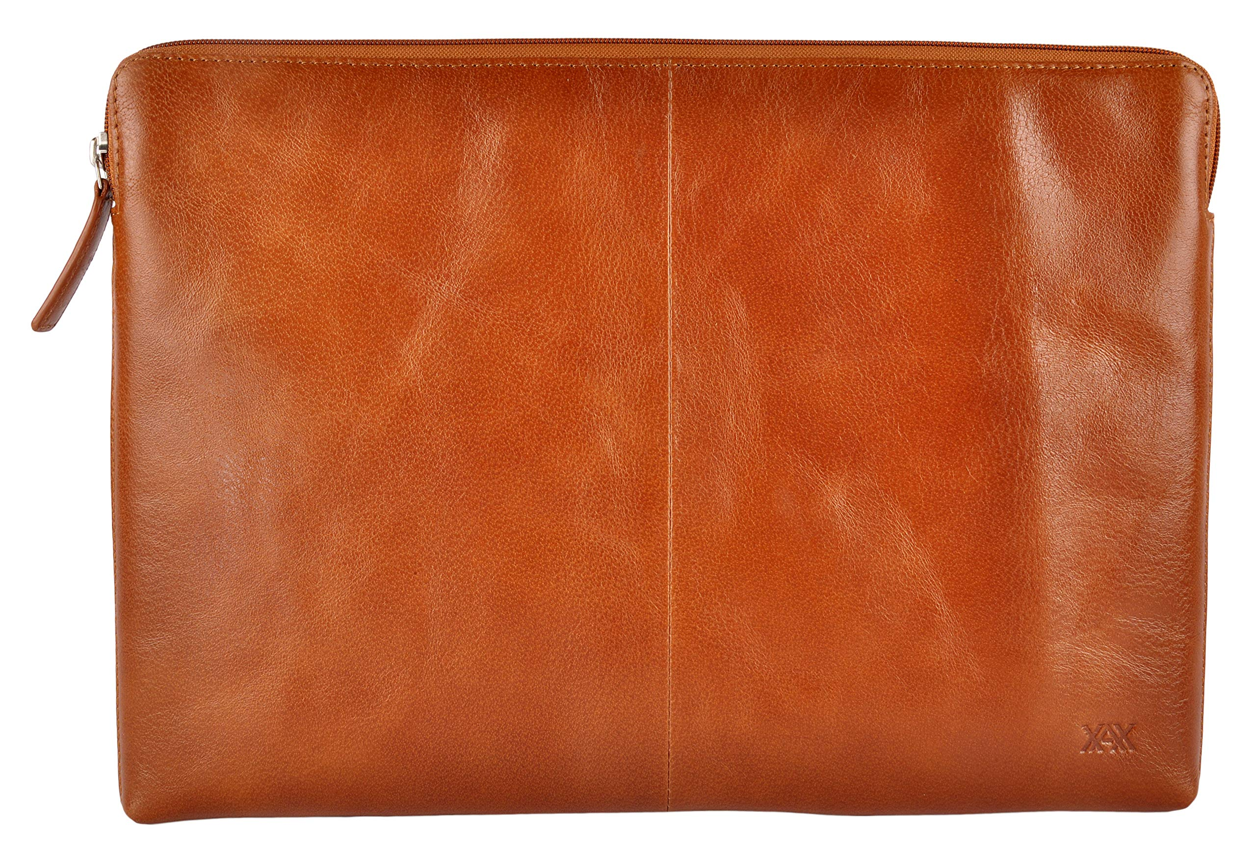 XAX Full Grain Leather Laptop Sleeves for MacBook Pro - 15 inch/Ultrabook Upto 15 inch (Tan)
