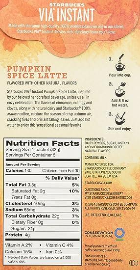 Starbucks Via Ready Brew Pumpkin Spice Latte 15 Servings 3 Pack Boxes 5 Packets Each Box