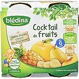 Blédina - Pots Cocktail de fruits dès 6 mois 4x130g