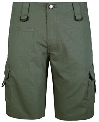 bbfa9b622a WenVen Men's Ripstop Cargo Short Relaxed Fit, Army Green, ...