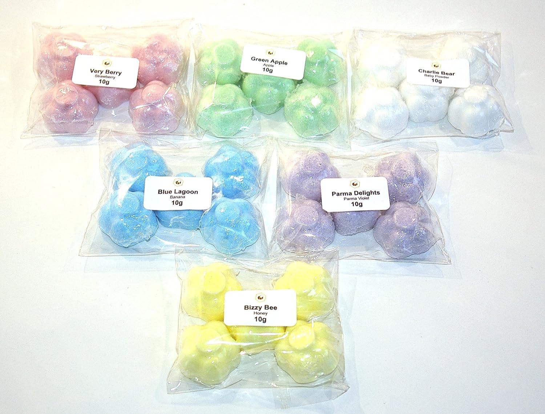 Bee Beautiful 30 X 10g Mixed Scents Mini Flower Bath Bombs - Mix 2