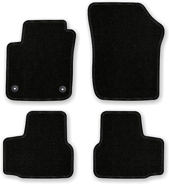 Bär Afc Vw04456 Basic Auto Fußmatten Nadelvlies Schwarz Rand Kettelung Schwarz Set 4 Teilig Passgenau Für Modell Siehe Details Auto