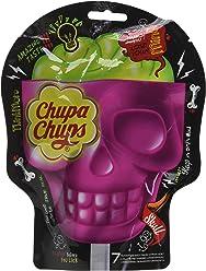 Chupa Chups Sucettes 3D Skull Parfum Bi-Goût Fraise-Citron Vert - Sachets  de 7x15g chacun - Lot de 2
