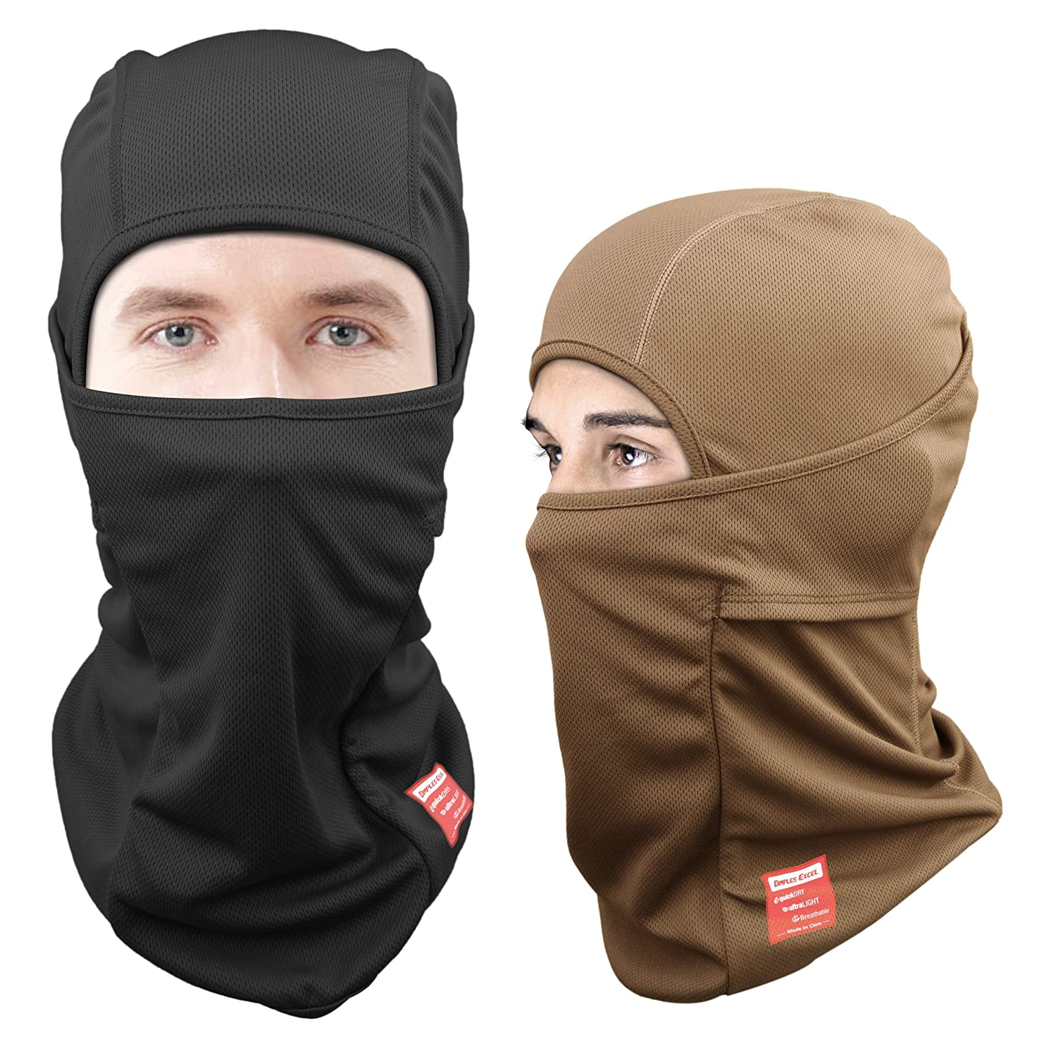 Dimples Excel [2-PACK] Balaclavas for Men Ski Mask Balaclava Hat for Motorcycle Snowboard Outdoor Activities in Winter Dimples Excel Ltd DE100071