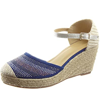 Hauteur Cheville Chaussure Espadrille Sandale Mode Sopily Femmes UVLSpMqzG
