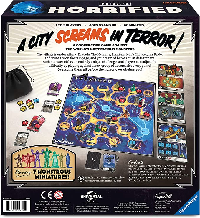 Ravensburger Horrified: Universal Monsters Strategy Board Game for Ages 10 & Up: Amazon.es: Juguetes y juegos